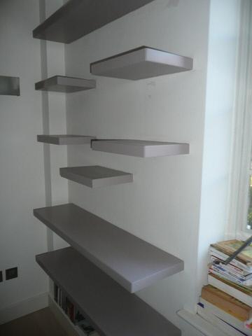 custom corner glass shelves