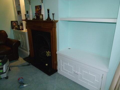 edwardian alcove cabinets
