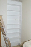 fitted hardwood bookcases
