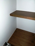 Potters-Bar-EN6 chunky walnut shelves