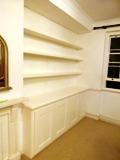 SW1 fitted made to measure floating shelves