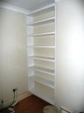 white white bookcase